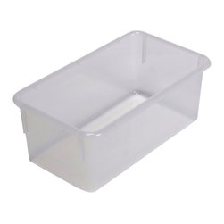 """Steffywood - Steffywood Home Plastic Storage Box Cabinet Opaque Clear Tray 13""""L X 8""""W X 5""""H - Plastic, durable tote trays measure 5""""H X 8""""W X 13""""L and fit our 15"""" deep storage cabinets. All edges are rounded and smooth. GreenGuard certified.Fits our 15""""cabinets. GreenGuard certified. All edges rounded and smooth."""