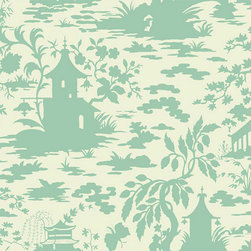 Ballard Designs - Asian Scenic Toile Wallpaper Salmon Pink/White Double Roll - Double roll. Unpasted. Washable. Strippable. The look of Asian toile from the European Chinoiserie tradition finds a whimsical modern approach in this stylish all-over scenic wallpaper taken from original archival images from the 17th century. Asian Scenic Toile Wallpaper features: . . . .