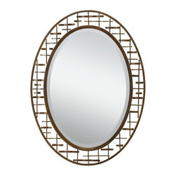 Kichler - Kichler 78248 Loom Oval Beveled Woven Frame Mirror - Product Features:
