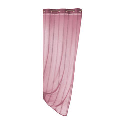 "Evideco - Striped Sheer Grommet Curtain Panels Mirano, Dark Pink - ""This elegant striped sheer window curtain panel MIRANO with grommets features variegated stripes design in a striking pink tone, the 100% polyester panel is a timeless, yet modern addition to any room's decor. 55""""W x 95''L, sold individually, this solid d"""