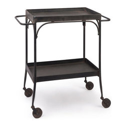 Roll Away Trolley Cart - Add some extra storage space to your kitchen with this eclectic accessory. Wheels make for easy mobility when entertaining and it's perfect for everyday use. The simple design of this piece will blend in effortlessly with your decor.