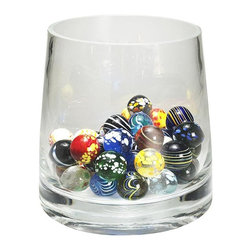Authentic Models - Authentic Models Set Of 50 Marbles - Decorate any part of your home with our AM colored hand blown glass marbles! Each of the 50 pieces are uniquely hand blown resulting in one of a kind model pieces. Just put them in a transparent dish or glass and let its elegant colors reflect brilliantly to you. A true collectors model! Dimensions: 6cm.