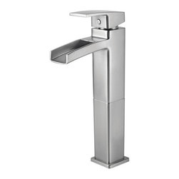 "Pfister - Pfister GT40-DF0K Brushed Nickel Kenzo Kenzo Vessel Sink Faucet (Low - Kenzo Vessel Sink Faucet Low LeadPfisterÂ's Kenzo collection can help transform your bathroom into a striking, modern oasis. Architecturally inspired bathroom faucets feature sleek, simplistic lines and a gorgeous water-efficient waterfall trough design. Choose from fixtures with single and double handle controls. The contemporary theme moves to the shower with tub and shower fixtures. The Roman tub filler and single handle shower fixture coordinate for a complete look. Available in brushed nickel or polished chrome, the fixtures from the Kenzo collection can brighten up any residential or hospitality setting.All brass faucet body construction - Weight: 5.08 LBSSingle hole installation1 metal lever handle includedADA compliantVessel faucet for above counter sinksIndustry leading, lifetime ceramic disc valveOverall height: 11.75"" (measured from counter top to highest point of faucet)Spout height: 8.1875"" (measured from counter top to spout outlet)Spout reach: 4.5"" (measured from center of faucet base to center of spout outlet)WaterSense certified - 1.5 gallon-per-minute flow rateInstalls onto decks (counter tops) up to 2.25"" thickLow lead compliant - complies with CA and VT low-lead requirements for plumbing productsDesigned for use with standard US plumbing connectionsAll necessary mounting hardware included3-hole deckplate sold separately (961-060)Grid strainer sold separatelyFully covered under Pfister s Pforever Lifetime WarrantyAbout PfisterFounded in 1910, Pfister (previously known as Price Pfister) is one of AmericaÂ's oldest and most experienced plumbing companies. As the first faucet manufacturer in the world to offer a lifetime warranty on their products, quality has always been the cornerstone of Pfister faucets. Brass bodies, ceramic disc valves, and li"