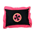 Magical Michayla - Standard Pillow Sham - Standard flanged sham is gorgeous in detail using bold black framed in pink with appliqu� of Magical Michayla signature pattern in minky centered on front of each.  Also available in sets!