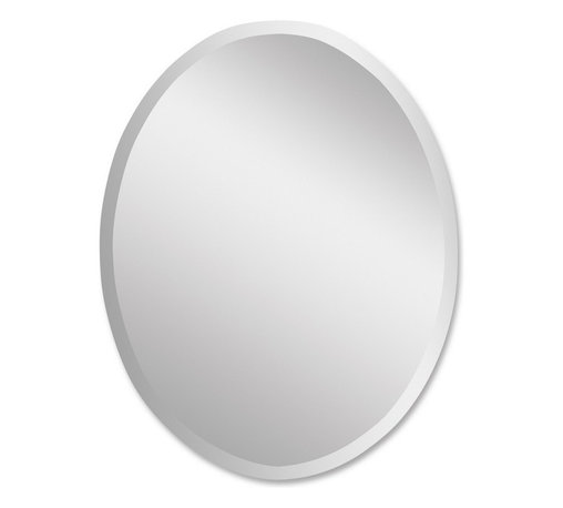 Uttermost - Uttermost 19580 B  Frameless Vanity Oval Mirror - Polished edges for a smooth finish. may be hung either horizontal or vertical.