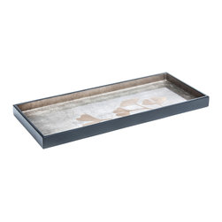 J. Fleet - Ginkgo Cocktail Tray - This sleek and elegantly lacquered tray was inspired by the pleasing image of the gingko leaf. The tray is decorated with ginkgo leaves in stunning espresso and coffee colors, making it the perfect addition to any glamorous home.