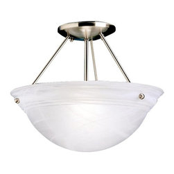 BUILDER - BUILDER 3718NI Cove Molding Top Glass Transitional Semi Flush Mount Ceiling Ligh - BUILDER 3718NI Cove Molding Top Glass Transitional Semi Flush Mount Ceiling Light