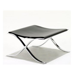 Knoll - Knoll | Barcelona Stool with Cowhide Sling - Design by Ludwig Mies van der Rohe, 1930.