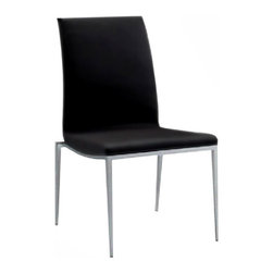 """Bellini Modern Living - Monique Side Chair (Set of 2) - Bellini Modern Living is renowned for offering high quality and innovative furniture; passionate for providing unparalleled quality furnishings that enable individuals to express their personal style in fresh and exciting ways. Whether you''re looking for dining, living or entertaining furniture your home will benefit from the exceptional collections Bellini has to offer. Features: -Side chair.-Sturdy chrome frame.-Frame construction: Chrome.-Monique collection.-Collection: Monique.-Distressed: No.-Seat Upholstery Material: Polyurethane.-Removable Seat Cushions: No.-Seat Cushion Fill Material: CFS foam.-Removable Seat Cushion Cover: No.-Tufted Seat Upholstery: No.-Welt on Seat Cushions: No.-Back Upholstery Material: Polyurethane.-Removable Back Cushions: No.-Back Cushion Fill Material: CFS foam.-Removable Back Cushion Cover: No.-Tufted Back Upholstery: No.-Welt on Back Cushions: No.-Powder Coated Finish: No.-Gloss Finish: No.-Frame Material: Chrome steel.-Number of Items Included: 2 Chairs.-Non-Toxic: Yes.-Scratch Resistant : No.-Arms Included: No.-Nailhead Trim: No.-Swivel: No.-Foldable: No.-Stackable: No.-Number of Legs: 4.-Leg Material: Chrome.-Casters: No.-Protective Floor Glides: No.-Adjustable Height: No.-Saddle Seat: No.-Outdoor Use: No.-Swatch Available: No.-Commercial Use: Yes.Dimensions: -Overall Product Weight: 27.5 lbs.-Overall Height - Top to Bottom: 36"""".-Overall Width - Side to Side: 18"""".-Overall Depth - Front to Back: 19"""".Assembly: -Assembly Required: No.-Additional Parts Required: No.Warranty: -Manufacturer provides one year warranty.-Product Warranty: 1 Year."""