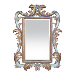 Sterling Industries - Harvest Scroll Mirror - The Harvest Scroll is an opulent mirror with wonderful contrast in the golden design and white lacquer.  A beautiful mirror that begs to be posed in front of.  This mirror would be perfect for an entryway or hallway.