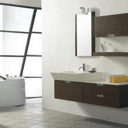"Da Vinci - Modern Bathroom Vanity Set 59"" - The Da Vinci is a modern bathroom vanity set that embraces the latest trend in luxury modern bathroom design."