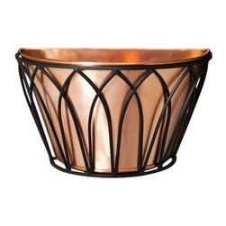 Smith & Hawken Premium Quality Eden Park Copper Wall Planter - Try a copper planter for a different and unique look. It weathers to a beautiful patina.