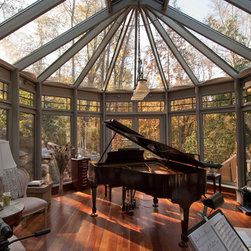 Woodland Retreat - Interior Aluminum Conservatory - A glass roof provides expansive views like no other window can.