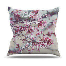 """Kess InHouse - Suzanne Carter """"Bloom Pink"""" Throw Pillow (Outdoor, 26"""" x 26"""") - Decorate your backyard, patio or even take it on a picnic with the Kess Inhouse outdoor throw pillow! Complete your backyard by adding unique artwork, patterns, illustrations and colors! Be the envy of your neighbors and friends with this long lasting outdoor artistic and innovative pillow. These pillows are printed on both sides for added pizzazz!"""