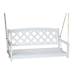 International Concepts - International Concepts SW-54213 Swing w/ Chain - X-Back - White - Swing w/ Chain - X-Back - White by International Concepts   Swing (1)