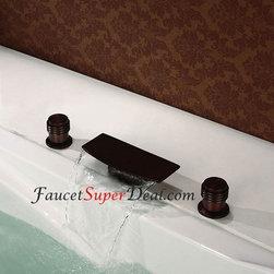 Bathtub Faucets - Antique Oil-rubbed Bronze Finish Waterfall Bathtub Faucet--FaucetSuperDeal.com