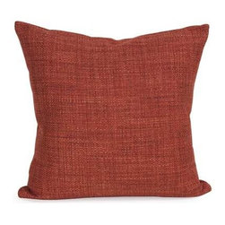 "Howard Elliott Coco Coral 16"" x 16"" Pillow - Change up color themes or add pop to a simple sofa or bedding display by piling up the pillows in a multitude of colors, textures and patterns. This Coco Pillow features a surprisingly soft burlap texture in a rich terra cotta red-orange."