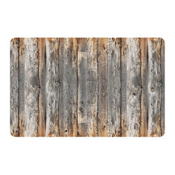 Bungalow Flooring - Fo Flor 2'x3' Faux Wood Mat, Cabin Creek - Woven polyester face captures colors and graphics in near photographic quality.