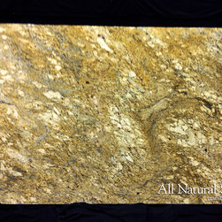 All Natural Stone - Golden Beach Granite Slab - Golden Beach Granite Slab. Perfect for Kitchen or Bathroom Counters.