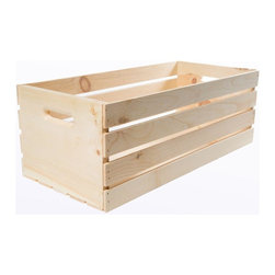 Houseworks - Houseworks Baskets Crates and Pallet 27 in. x 12.5 in. x 9.5 in. X-Large Wood - Shop for Storage & Organization at The Home Depot. Our largest crate you could fit 27 in. of hanging file folders in this seemingly never-ending crate. Or use it as vertical storage and put your orchids inside. All of our 12.5 in. wide crates hold hanging file folders perfectly. Add wheels and you have a rolling file cabinet. Or stack them for vertical shelves. Color: Unfinished Wood.