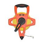 Apex Tool Group  (Cooper Tool) - Fe200D 200 Ft. Engineers Long Tape - FIBERGLASS ENGINEERS LONG TAPE  Open four-arm frame design long tape -  protects blade - does not track dirt in case  Hi-Viz(R) orange case is strong, but lightweight  Easy to handle and rewind  Folding end-hook for true-zero measurements  Impervious to moisture, yellow clad fiberglass  Engineer's marking in 10th and 100ths plus feet      FE200D 200 FT. ENGINEERS LNG TAPE  SIZE:200 Ft.  COLOR:Hi-Viz Orange