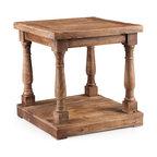 ZUO ERA - Fairfax Side Table Distressed Oak - Fairfax Side Table Distressed Oak