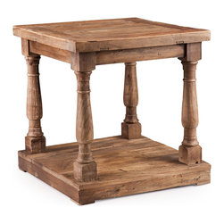 ZUO ERA - Fairfax Side Table Distressed Oak - Fairfax Side Table Distressed Oak