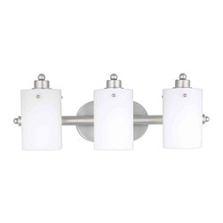 Quoizel Lighting - Quoizel AN8540ES Adano Empire Silver 3 Light Vanity - 3, 100W A19 Medium
