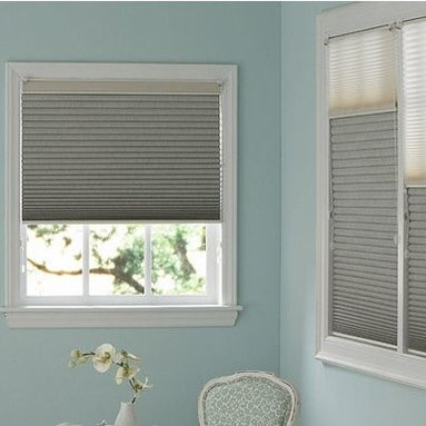 Bathroom - Cellular Shades have a light-as-air appearance that gently filters light. They may look delicate but they save energy by trapping air in their hexagon-shaped cells. 3 Day Blinds Honeycomb Shades softly filter sunlight while providing privacy. Brighten any room with their colorful fabrics.