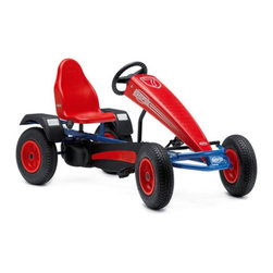 Berg USA - Berg USA Extra BF-3 Sport Pedal Go Kart - Red - 03.36.03.00 - Shop for Tricycles and Riding Toys from Hayneedle.com! The BERG Extra BF-3 Sport Riding Toy provides the same quality and durability as all BERG karts but with the addition of three gears making crushing the competition three times easier but no less enjoyable. Ready to speed across grass pavement dirt gravel cement and any other packed surface the BERG Extra BF-3 Sport Riding Toy is sure to provide hours of entertainment. And a five-way adjustable seat is sure to provide comfort in all your victories.About BERG USAFounded in 2010 BERG USA is quickly becoming a recognized name in children's riding toys with their innovative designs and attention to safety that don't get in the way of their dedication to providing outdoor exercise for both kids and adults. BERG USA designs and offers a wide variety of high-quality pedal go-karts for home or commercial use ranging in size to comfortably accommodate ages 2 through adult as well as their versatile line of MOOV construction kits.