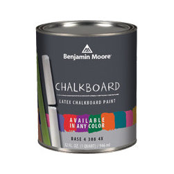 Benjamin Moore Chalkboard Paint - Paint one wall in the playroom an accent color with chalkboard paint