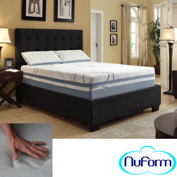 NuForm - NuForm Luxury Gel Memory Foam 13-inch Dual Layer Queen-size Mattress - Put an end to sleepless nights with this queen-size memory foam mattress. This 13-inch thick mattress combines gel-infused memory foam and a support core to give you a cool and comfortable night's sleep. This mattress never needs to be turned.