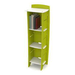 Legare Furniture - Legare Frog Adjustable 3-Shelf Bookcase - Lime Green/White - BCGM-103 - Shop for Childrens Bookcases from Hayneedle.com! The Legare Frog Adjustable 3-Shelf Bookcase-Lime Green/White is the bright and customizable bookcase that tailors to your child s needs! The bookcase comes in a colorful and bright lime green and white enamel finish includes three 12-inch-wide adjustable shelves and can accommodate up to six shelves. The modern curvilinear design is best for fun kids rooms rec rooms and schools. Includes smart adjustable shelving and concealed cable management and can be assembled tool-free in fewer than three minutes. Disassembles in seconds for convenient flat-pack storage or transport.About Legare FurnitureBased in Fort Worth Texas Legare Furniture is a design and manufacturing firm that produces contemporary unique and easy-to-assemble furniture for the home and small office. Founded in 1999 the company's designs are an evolution of Legare's original signature modular design continually improved with innovative materials and finishes to enhance the chic style and convenient functionality that marks Legare's furniture as distinct.