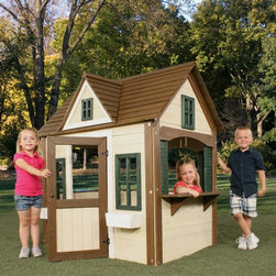 Swing-N-Slide - Swing-N-Slide Classic Playhouse Multicolor - PB 8297 - Shop for Swings Slides and Gyms from Hayneedle.com! The Swing-N-Slide Classic Playhouse will be a welcome addition to your backyard landscape. Features paned windows with flower boxes large activity window with plastic bins for playtime interaction Dutch style door with opening peaked roof with dormer window and plenty of room to stimulate your child's imagination. A home they can call their very own! About Swing-N-SlideFounded in 1985 Swing-N-Slide was America's first manufacturer of do-it-yourself wooden playground products. This remarkable company designs manufactures and distributes residential and commercial play sets across the nation. Committed to safety and driven by a desire to provide compliant fun and value-packed products Swing-N-Slide backs every play set with quality and pride. They offer unparalleled value and the unique opportunity to tailor playground products to your specific needs and budget.