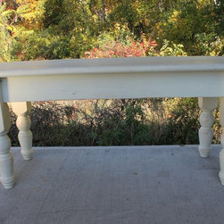 White Reclaimed Dining Bench - Made by www.ecustomfinishes.com