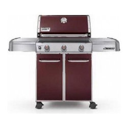 Weber - EP-310 Genesis Gas Grill - Special Edition | Crimson | 6513301 | LP - 6513301 EP-310 Weber Genesis Propane (LP) Gas Grills - Crimson - Special Edition Weber Genesis Series Freestanding Gas Grill with 637 sq. in. Cooking Area 3 Stainless Steel Burners Stainless Steel Cooking Grates/Flavorizer Bars Warming Rack and Electronic Crossover Ignition: Crimson LP Gas  Standard Features :