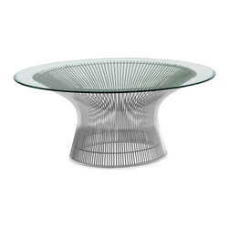 Knoll - Platner Coffee Table | Design Within Reach - An iconic designer piece like the Planter coffee table is suitable for a grand and modern living room. Use it to add a softer touch to masculine or chunky seating pieces.