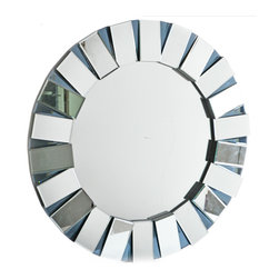 "Concepts Life - Concepts Life Accent Mirror  Sun Portal - This whimsical mirror is perfect for creating a light, airy feel in any room, and works as a functional reflective accent reminiscent of the sun.  Modern mirror with black MDF backing; D hooks attached for hanging. Product dimensions: 36""w x 2""d x 36"" h Weight: 44 lbs Mounting hardware not included Imported"