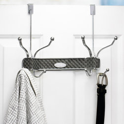Samsonite - Samsonite 8-hook Chrome Over The Door Hanger - Keep your clothing, hats, towels, scarves and other items out of side and out of the way with this Samsonite over-the-door hanger. Featuring eight hooks, this versatile hanger has an ash grey weaved backing with chrome hooks.
