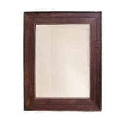 """KCK Bathroom Mirrors & Accessories - Cabernet Mirror - Made in America. Beveled glass. Horizontal or vertical mounting. Reclaimed oaking staves. Width: 40"""" Depth: 37"""" Finish: Cabernet"""