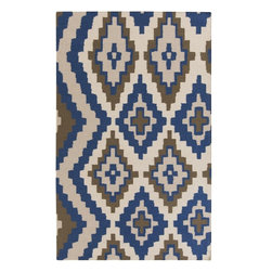Surya - Surya Alameda Hand Woven Blue Wool Rug, 8' x 11' - Enjoy this Surya rug in your home. Imported.Material: 100% WoolCare Instructions: Blot Stains