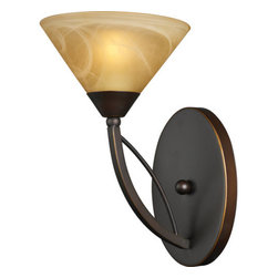 ELK Lighting - ELK Lighting 7640/1 1 Light Up Lighting Sconce from the Elysburg Collection - Elk Lighting 7640/1 One Light Wall Sconce