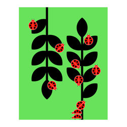 Hybrid-Home - Limited Edition Print Ladybugs - Ladybug, ladybug, fly away home. Always collectable, this hand-signed and numbered poster enlivens your home with cheerful colors and bold graphics. It's a tribute to nature's favorite lady.