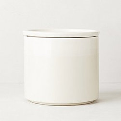 "Anthropologie - Airtight Coffee Canister - Ceramic, rubberHand wash65 oz6""H, 6"" diameterImported"