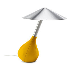 Pablo Designs - Pablo Piccola Table Lamp - Pablo Designs - Available in 7 colors Piccola is limited only by your imagination. Its soft pliable base is covered in supple Italian glove leather and can be tilted to any angle while its handspun aluminum shade floats freely to remain level in all positions. It is as playful as it is intelligent. Part of the SF Moma permanent collection.