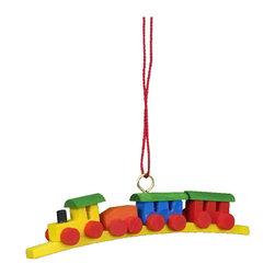 "Alexander Taron - Alexander Taron Christian Ulbricht Ornament -Train Mini Size-0.5H x 0.25W x 2.5D - Christian Ulbricht hanging ornament - train - small size - 2.5"" long - made in Germany."
