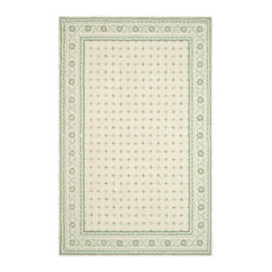 """Safavieh - Wilton Rug, Beige/Light Blue, 7'-9"""" x 9'-9"""" - Wilton collection, a line of coordinated rugs and broadloom that re-creates classic Wilton patterns in a proprietary hand-hooked construction."""