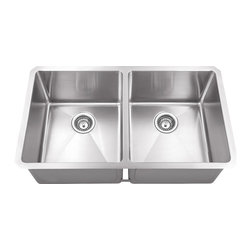 Hahn - Hahn Chef Series Handmade Equal Double Bowl, Extra Large - Traditional style meets modern appeal with the Handmade Chef Series from Hahn. Boasting tight clean corners and a sleek sophisticated feel, the Hahn Handmade Extra Large Double Bowl will give your kitchen a unique modern touch. With deep bowls for functionality and ample work space, this versatile farmhouse sink is an essential addition to any designer kitchen!