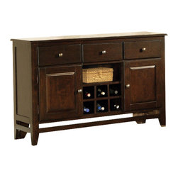 Steve Silver Furniture - Steve Silver Victoria Server - A modern classic, the Mango Server yields functional design and Solid wood construction. Defined as casually elegant, the mango finish adds depth and character to this truly transitional piece.