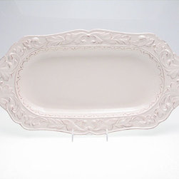 Certified International - Certified International Firenze Ivory Handle Fish Platter - Wow your guests by making your signature stuffed sea bass recipe look even more delectable with this elegant fish platter. It's made out of a gorgeous white ceramic material,and the two handles on either side of the dish make it easy to carry.